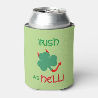 Porta-lata O trevo irlandês diabólico faz um gabarito