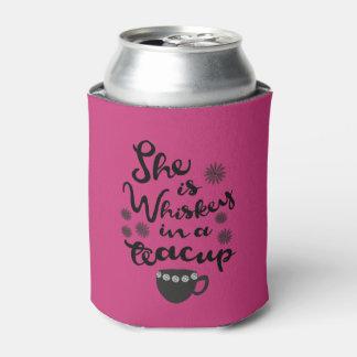 Porta-lata O uísque em um costume do Teacup pode refrigerador