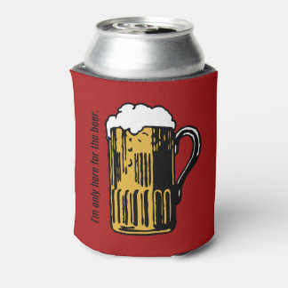 Porta-lata O vidro do texto feito sob encomenda da cerveja