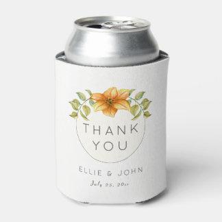 Porta-lata Obrigado Wedding você favorece a flor da estrela