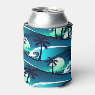 Porta-lata Ondas e palmeiras