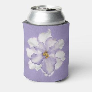 Porta-lata Orquídea bonita da lavanda