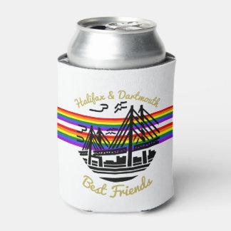 Porta-lata Os amigos de Halifax Dartmouth do arco-íris do