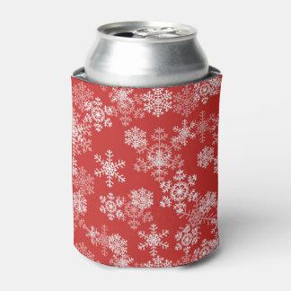 Porta-lata Os flocos de neve do feriado enlatam o