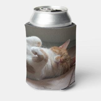 Porta-lata Os gatos bonitos que dormem podem refrigerador