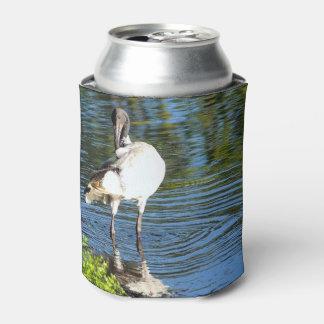 Porta-lata Os íbis brancos podem refrigerador
