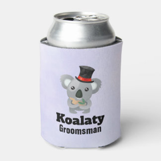 Porta-lata Padrinho de casamento bonito de Koalaty da chalaça