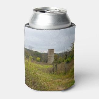 Porta-lata Paisagem do silo do país de origem