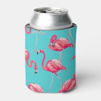 Porta-lata Pássaros cor-de-rosa do flamingo no fundo de