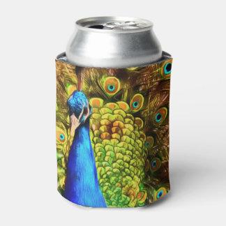 Porta-lata Pavão colorido