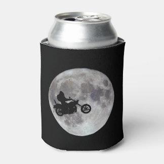 Porta-lata Pé grande, bicicleta grande e uma lua brilhante