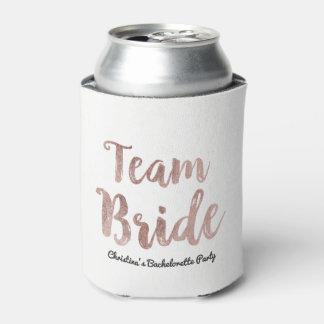 Porta-lata Peça branca de Bachelorette da noiva da equipe do