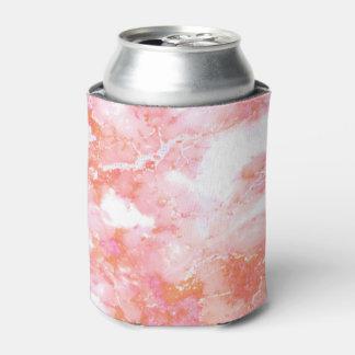 Porta-lata Pedra de mármore nebulosa cor-de-rosa do pêssego
