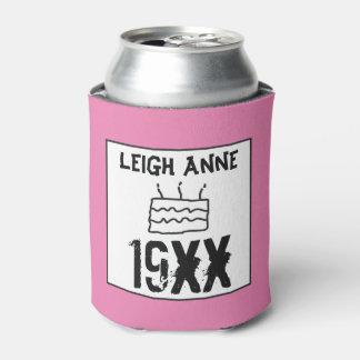 Porta-lata Personalize o nascer no rosa feito sob encomenda