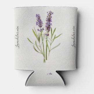 Porta-lata Pintura botânica do vintage de Vera do Lavandula