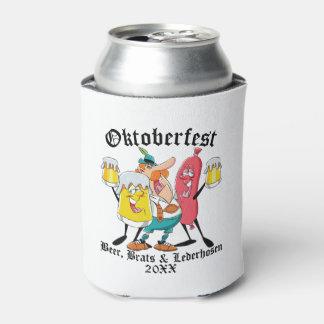 Porta-lata Pirralhos & Lederhosen da cerveja de Oktoberfest