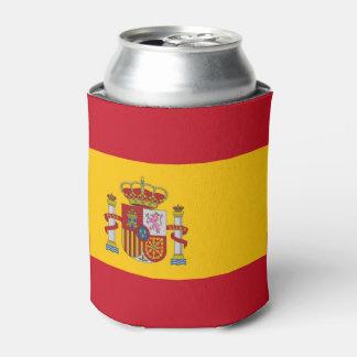 Porta-lata Pode o refrigerador com a bandeira da espanha