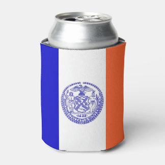 Porta-lata Pode o refrigerador com a bandeira da Nova Iorque,