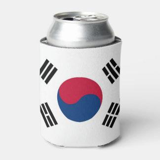 Porta-lata Pode o refrigerador com a bandeira de Coreia do