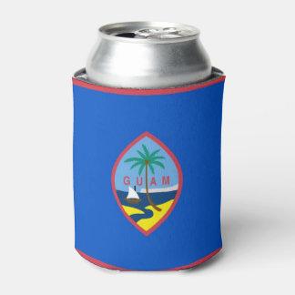 Porta-lata Pode o refrigerador com a bandeira de Guam, EUA