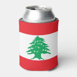 Porta-lata Pode o refrigerador com a bandeira de Líbano