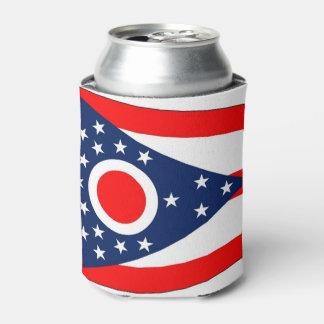Porta-lata Pode o refrigerador com a bandeira de Ohio, EUA