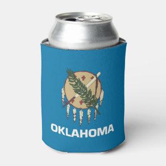 Porta-lata Pode o refrigerador com a bandeira de Oklahoma,