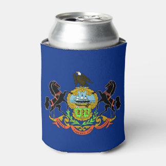 Porta-lata Pode o refrigerador com a bandeira de Pensilvânia,