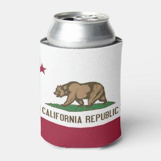 Porta-lata Pode o refrigerador com a bandeira do estado de