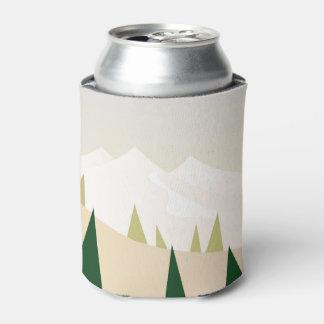 Porta-lata Pode o refrigerador com montanhas