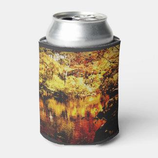 Porta-lata Pode o refrigerador - córrego do outono - cor