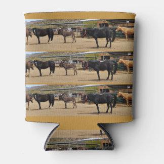Porta-lata Podem os cavalos do refrigerador 4 e um asno