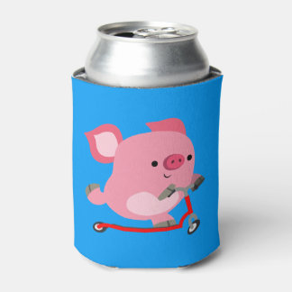 Porta-lata Porco bonito dos desenhos animados da