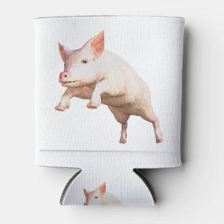 Porta-lata Porco novo grande engraçado que salta altamente
