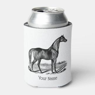 Porta-lata Posição do cavalo do vintage