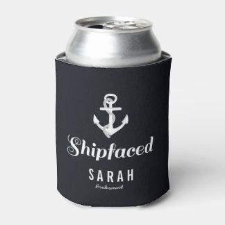 Porta-lata Presente náutico da dama de honra de Shipfaced