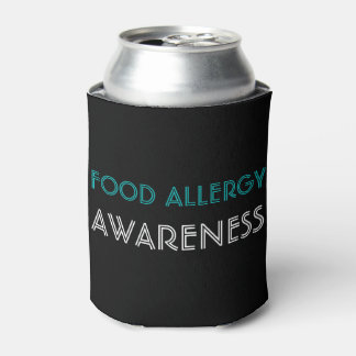 Porta-lata Preto da cerceta da consciência da alergia de