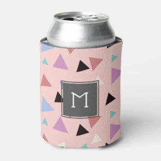 Porta-lata Preto roxo da hortelã do rosa geométrico elegante