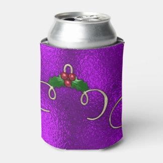 Porta-lata Redemoinhos românticos do Natal do Lilac