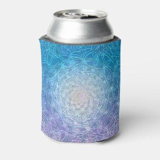 Porta-lata Reflexão violeta azul da mandala