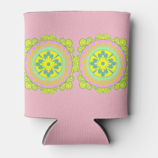 Porta-lata Refrigerador cor-de-rosa da mandala