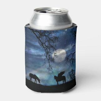 Porta-lata Refrigerador místico da lata de Pegasus e de