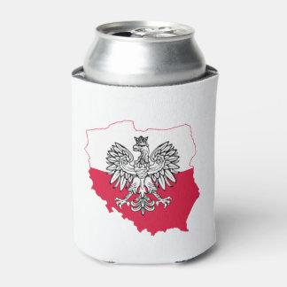 Porta-lata Refrigerador polonês da cerveja da bandeira do