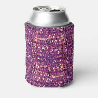 Porta-lata Refrigerador roxo da lata de soda de Pixelated