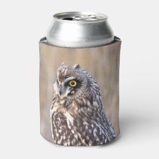 Porta-lata Retrato de uma coruja Curto-Orelhuda