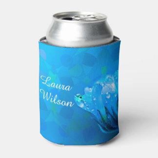 Porta-lata Rosa conhecido customizável do azul