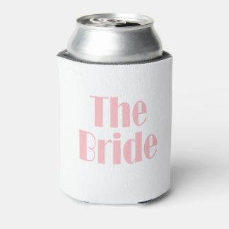 Porta-lata Rosa de bebê dos ganhos da noiva