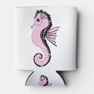 Porta-lata rosa do cavalo marinho
