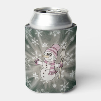 Porta-lata Senhora bonito da neve