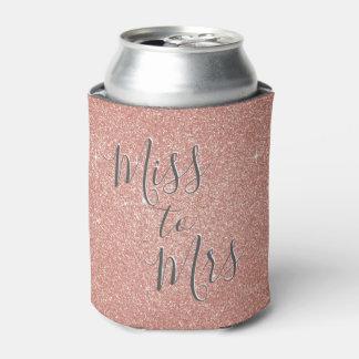 Porta-lata Senhorita à Sra. brilho cor-de-rosa do ouro do